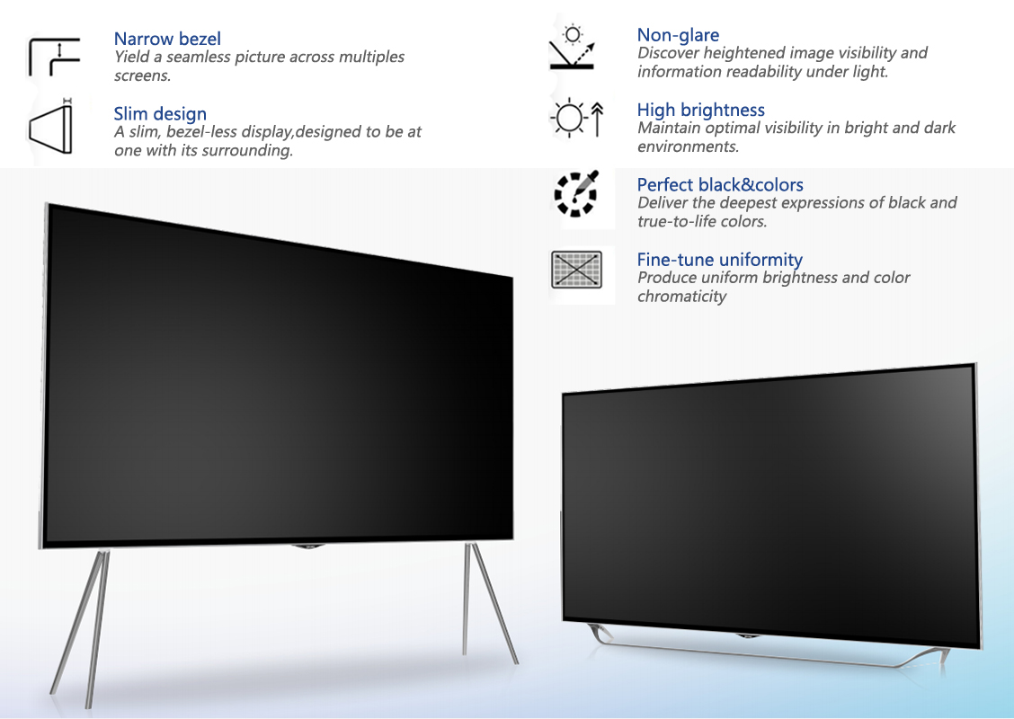 "75"" 86"" big size LCD smart TV"