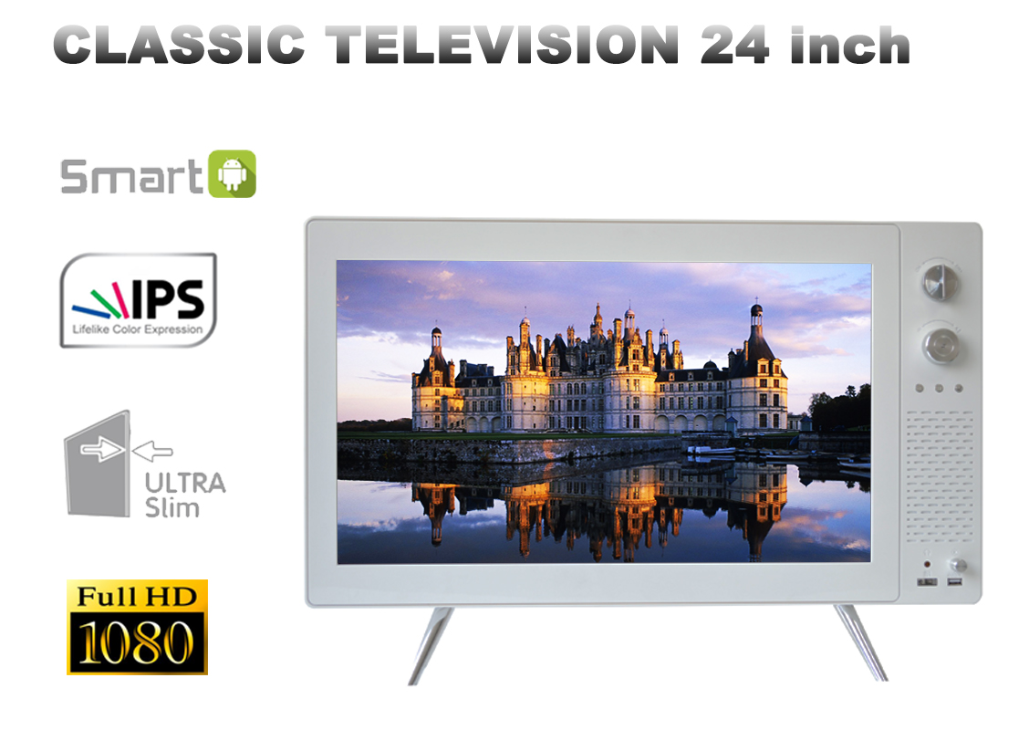 "24"" classic TV retro design"